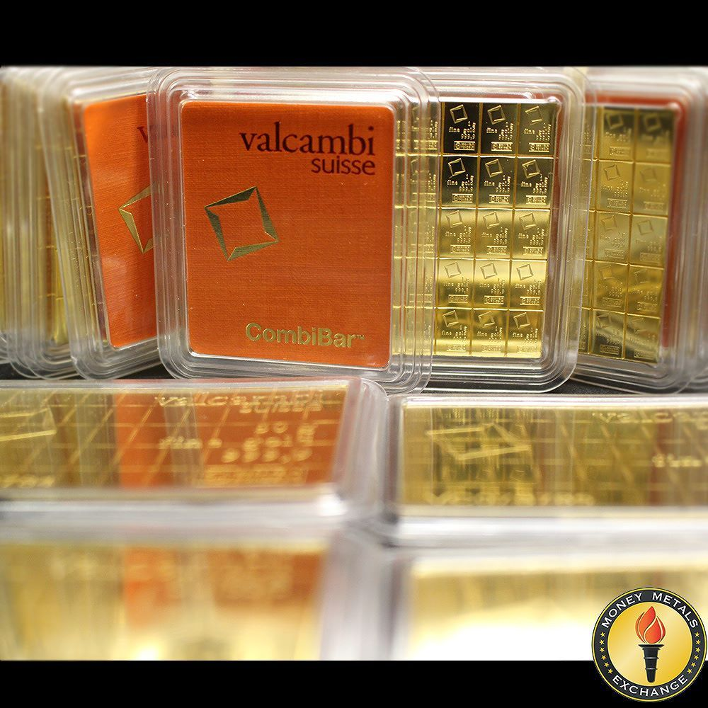 These One Of A Kind Valcambi Bars Break Into 50 1 Gram Gold Pieces Gold Bullion Bars Gold Coin Price Gold Bar