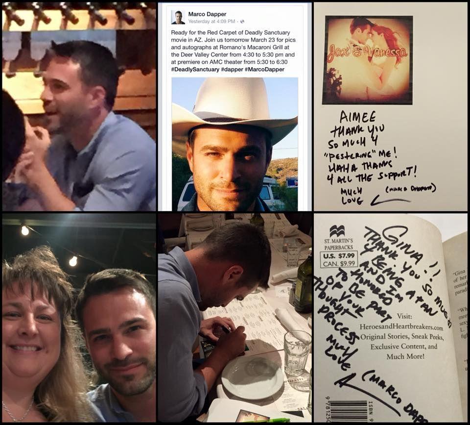 Collage of when RoE super-fan met Jackson inspiration, Marco Dapper ...