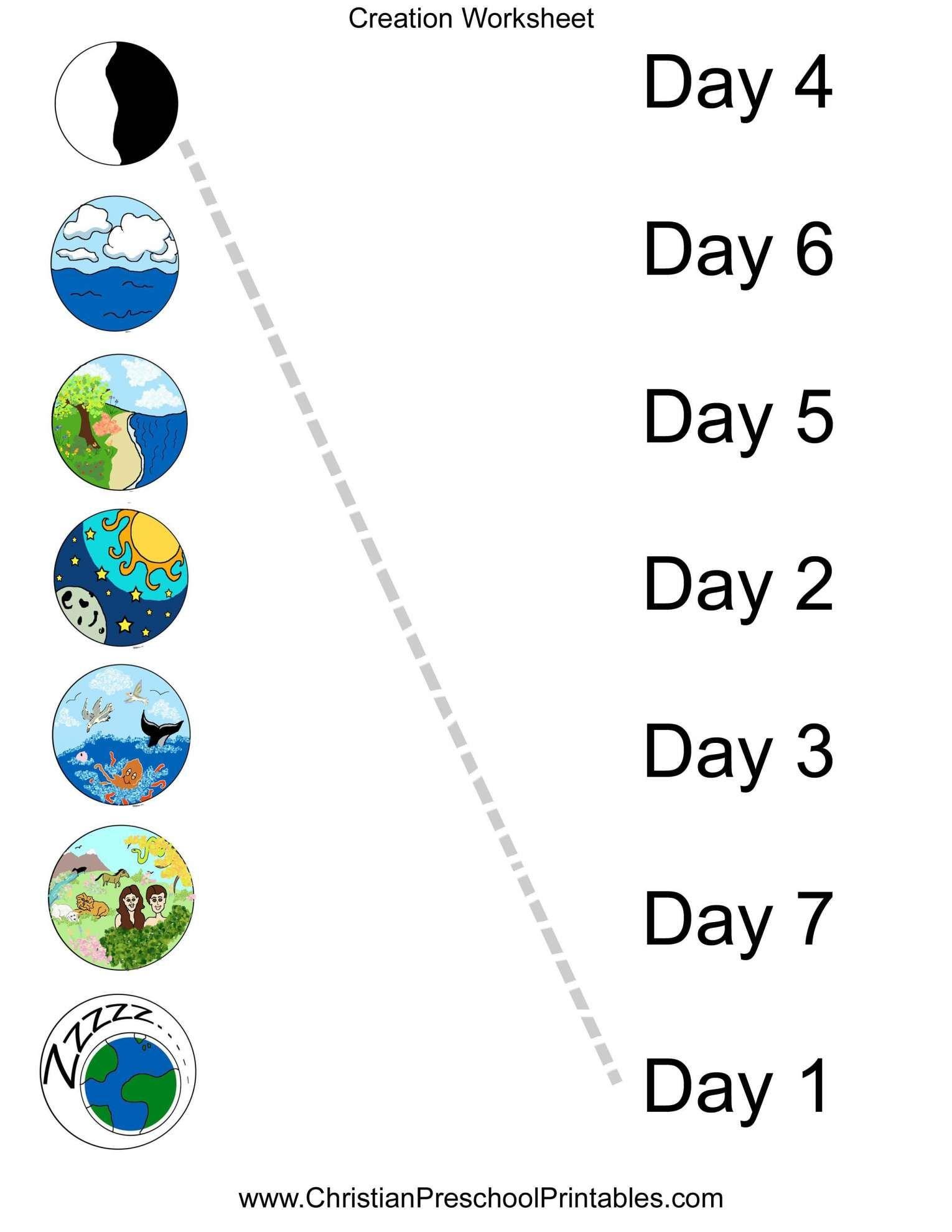 11 Creation Worksheet Preschool