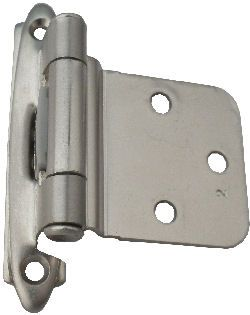 Superior Reverse Bevel Variable Overlay Hinge In Satin Nickel. Made For 30 Degree  Reverse Bevel Doors