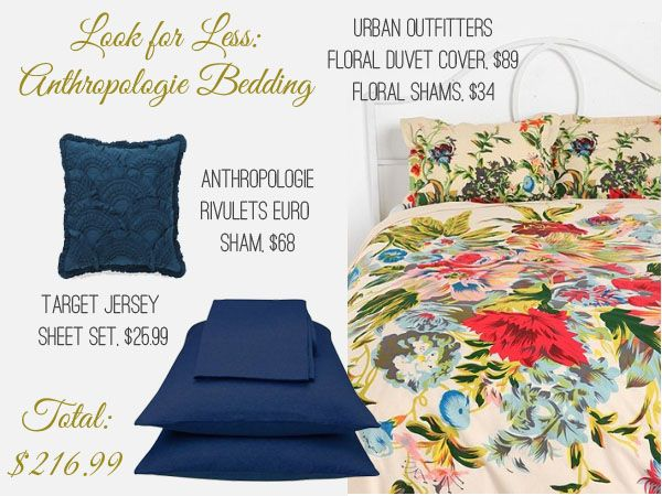 Look For Less: Anthropologie Bedding