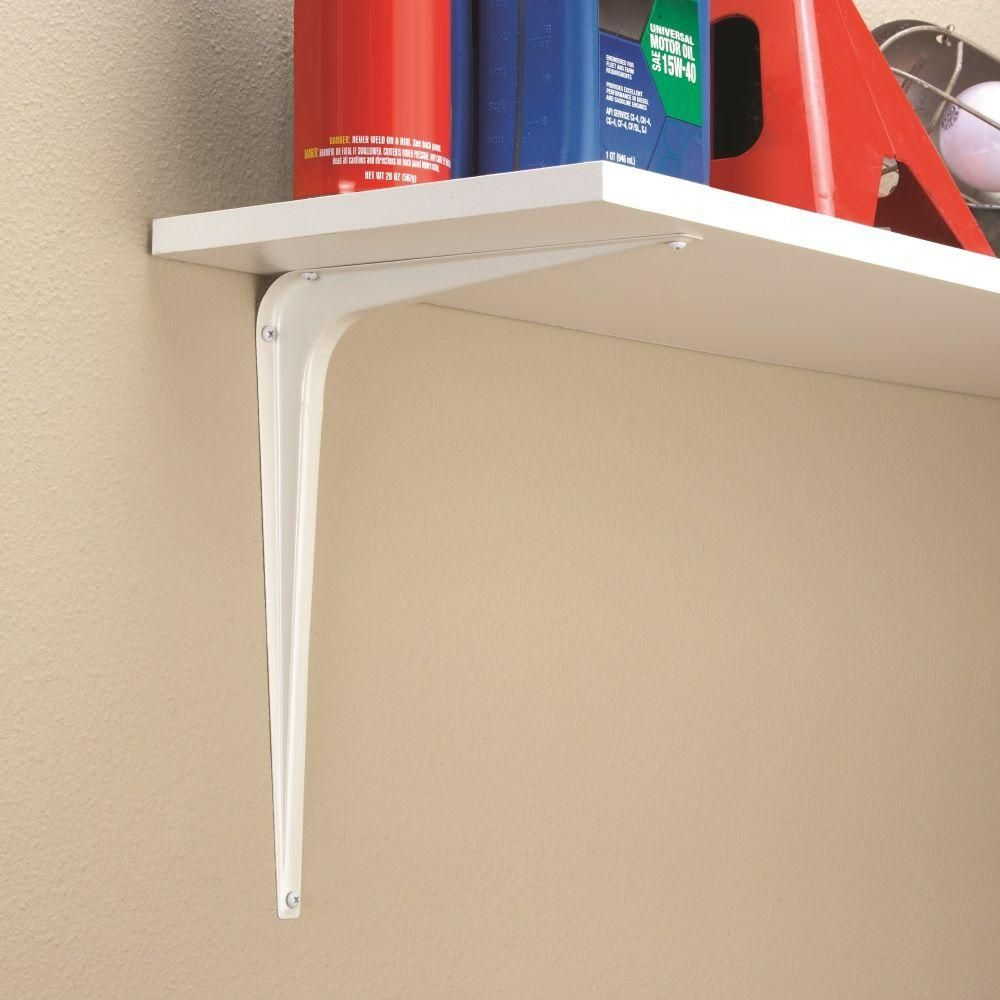 crown bolt 10 in x 12 in white shelf bracket diy white shelves shelf brackets shelves. Black Bedroom Furniture Sets. Home Design Ideas