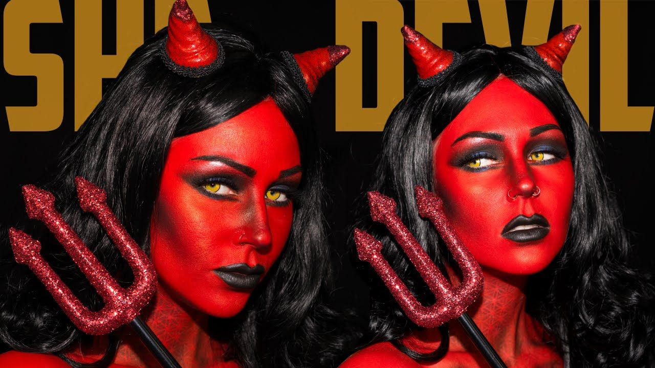 Heaven & Hell She Devil Makeup Tutorial Jordan Hanz ...