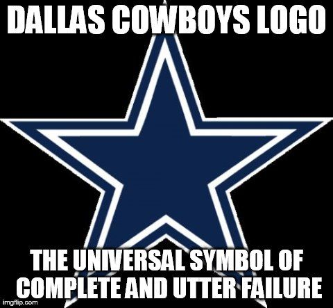 cae59282e297da2087ba037887d4f7d7 cowboy failures dallas cowboys logo the universal symbol of