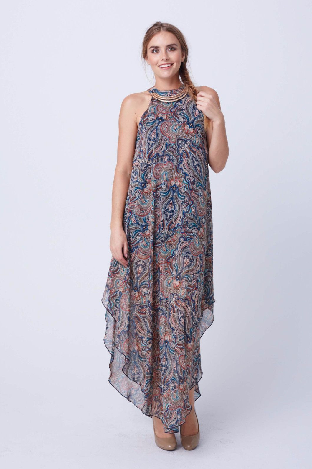 Payton Paisley Chiffon Dress