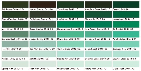 Color chart wall color - Pick the right shades for your wall - pick chart