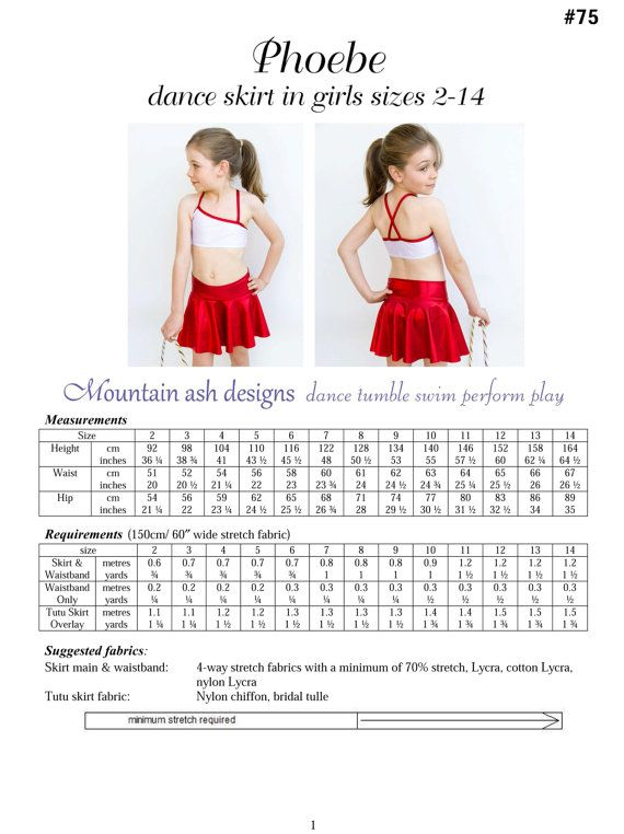 Dance Skirts pdf sewing pattern tutu skirt dance by tumblentwirl ...