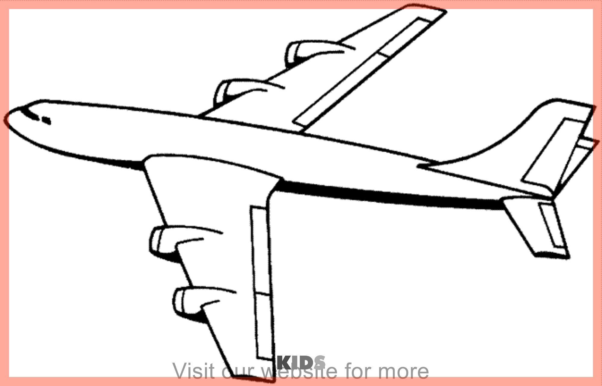 Craft For Kids Easy Paper Best In 2020 Airplane Coloring Pages Coloring Pages To Print Coloring Pictures For Kids