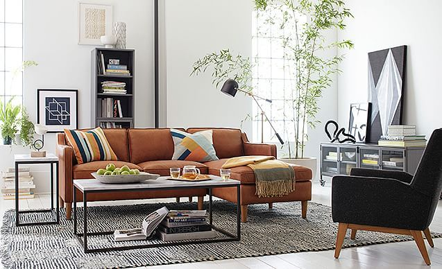 Classic Crafted Living Room West Elm With Images Living Room Designs Small Living Room