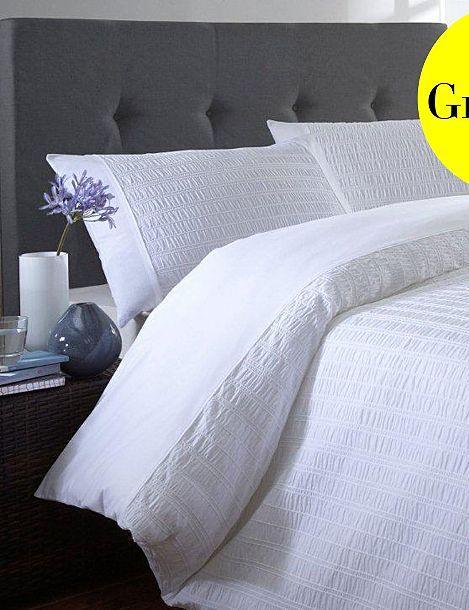 White 'Seersucker' bedding set