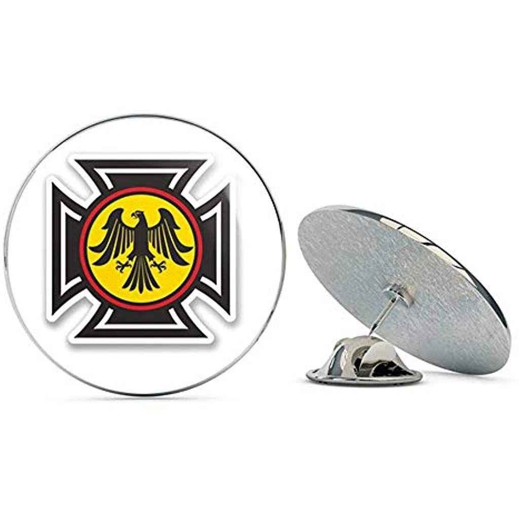 German Eagle Crest Round Metal 0 75 Lapel Pin Hat Shirt Pin Tie Tack Pinback Jewelry Jewelrybox Jewe Jewelry Stores Near Me Jewelry Candles Jewelry District