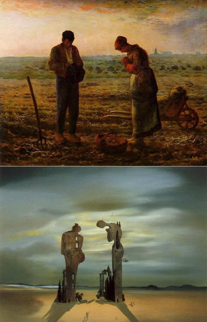 Dali Archeological Reminiscence Of Millet S Angelus Dali Art Salvador Dali Art Dali