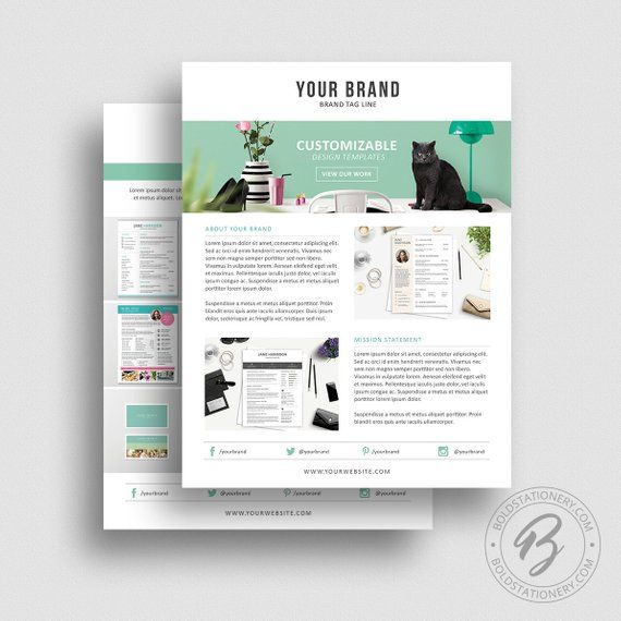Product Media Kit Template 07 - Press Kit - Pitch kit - Product - Price Sheet Template
