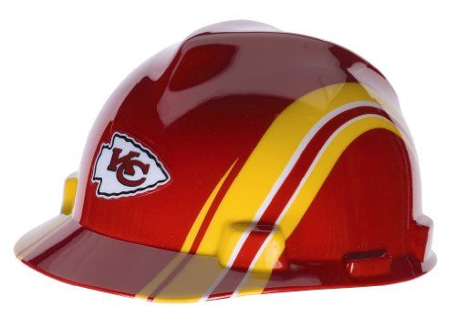 ... for my KC fanatic so he doesn t hurt himself when he bangs his head  against the wall. MSA Safety 10098079 NFL Kansas City Chiefs V-Gard Hard Hat  MSA ... 9854ce046