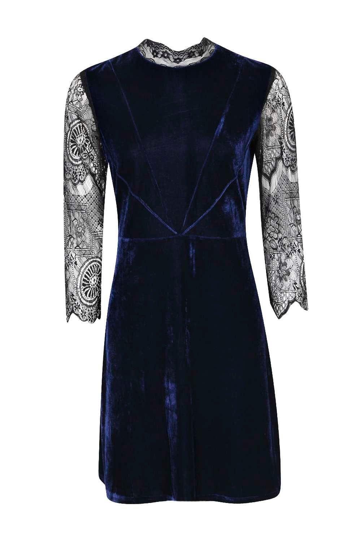Riona high neck lace and velvet bodycon dress dresses pinterest