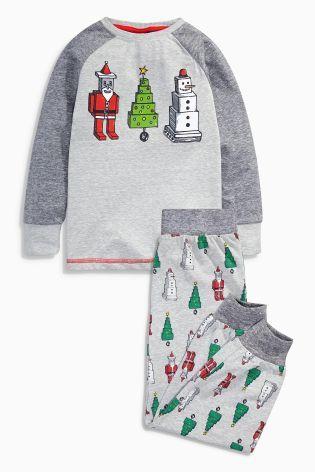 db92ab4208 Buy Multi Santa Tree Pyjamas from the Next UK online shop Boys Christmas  Pajamas