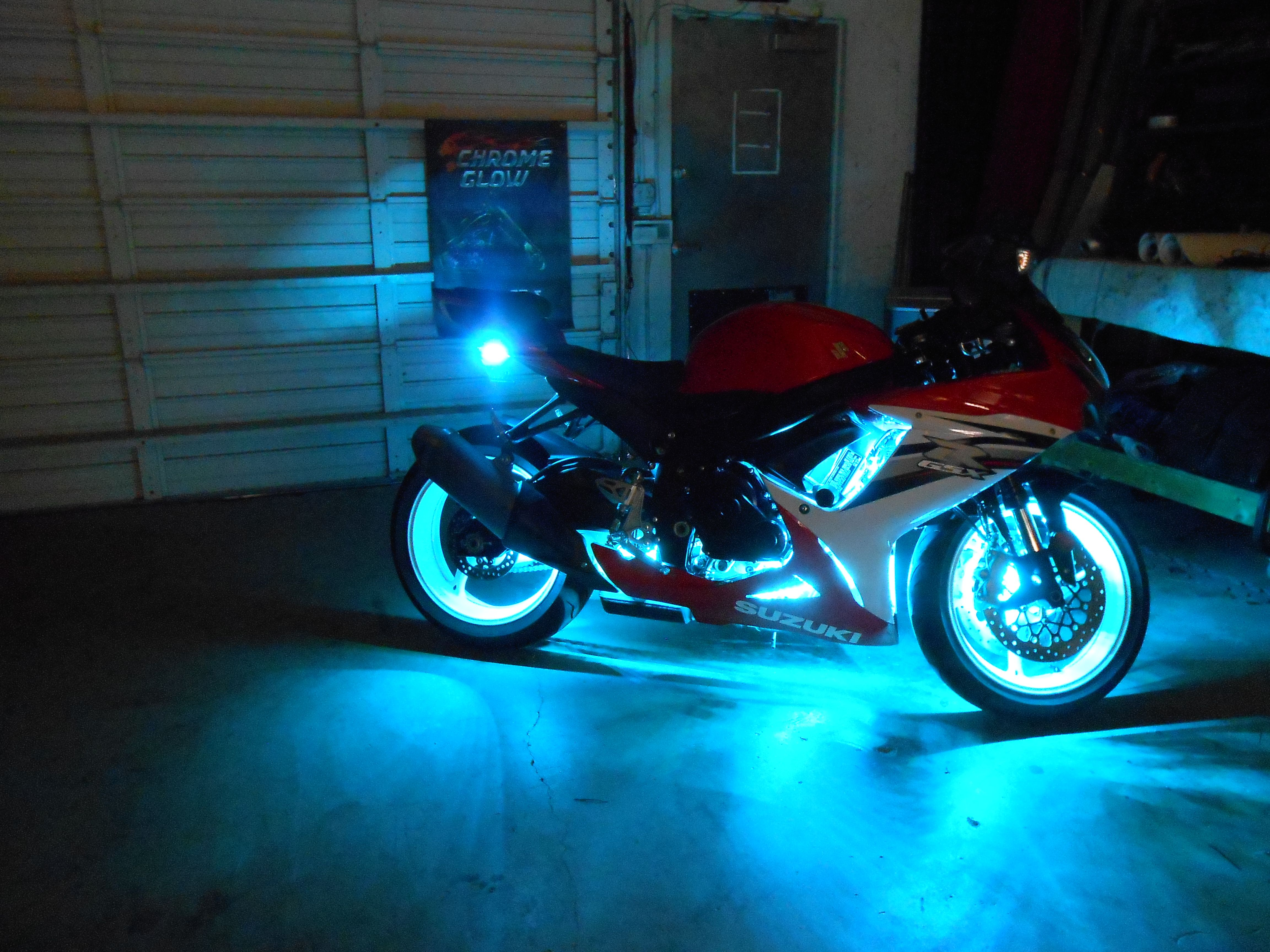 A Customer Asked Us To Design A Custom Led Accent Light Kit For Their 2014 Gsxr 600 Check Out The R Motorcycle Led Lighting Motorcycle Lights Motorcycle Women
