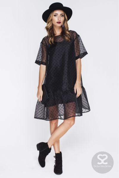 08016e84c916 Свободное платье из органзы с нижним платьем из шелка.   Skazkina ...