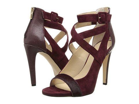 Womens Shoes Calvin Klein Saren Black Hair Calf/Kid Suede
