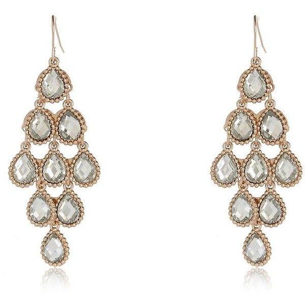 River Island Gold tone teardrop earrings ($16) ❤ liked on ...