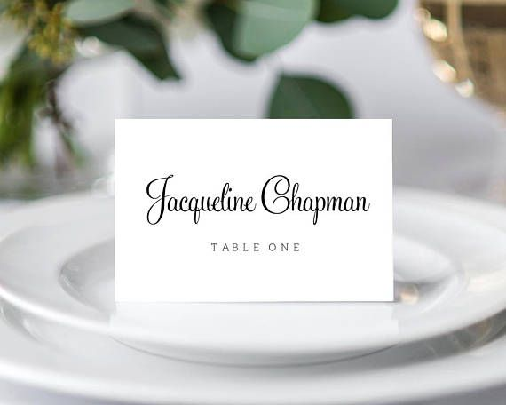 place card template instantly download edit and print your own