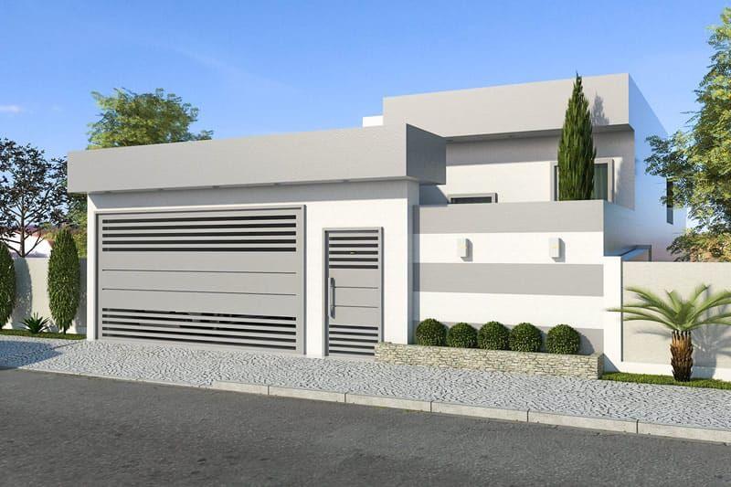 Plano de casa moderna de un piso casas pinterest house home and home decor - Casas modernas de un piso ...