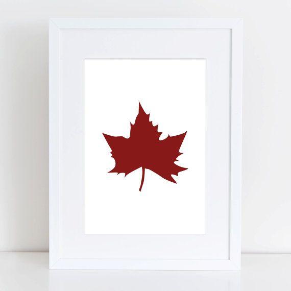 Printable Leaves, Leaf Print, Maple Leaves, Autumn Wall Art, Fall Art, Fall Home Decor, Autumn Prints, Canadian Leaf Art, Canada Maple Leaf on Etsy, $5.00