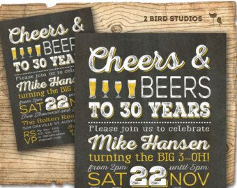 Beer birthday invitation cheers and beers invitation adult beer birthday invitation cheers and beers invitation adult birthday party invitation 30th 40th 50th 60th beer party invitation stopboris Gallery