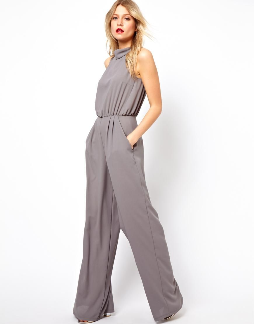 97de798d5f5 ASOS polo neck jumpsuit. Classic! Beautiful outfit for women over 40. Add  bold jewelry and a belt-sexy!