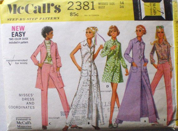 70's Sewing Pattern  Shirt Dress Blouse and Pants  by Shelleyville, $8.00