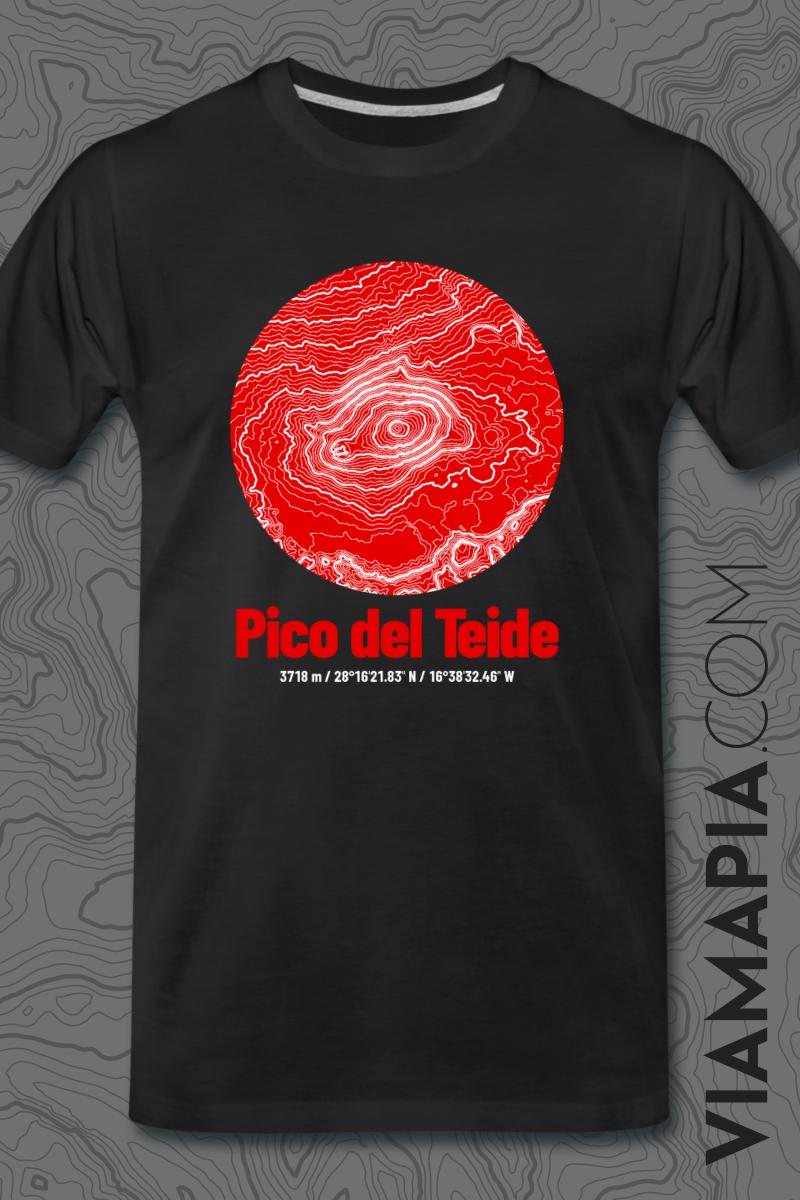 Pico Del Teide T Shirt Kartografie Topografische Landkarte In 2020 T Shirt Shirts Topografische Karte