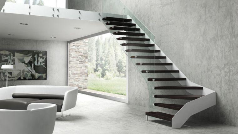 Escalier Interieur Et Deco De Maison Moderne Moderne Verlichting Modern Trappenhuis