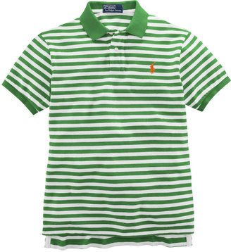 ShopStyle  POLO RALPH LAUREN Classic-Fit Short-Sleeved Striped Cotton Mesh  Polo b4fc3a5b8b08