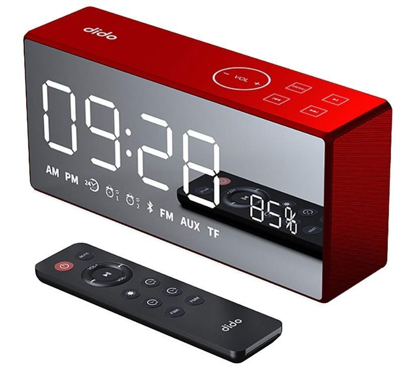 Bluetooth Speaker Alarm Clock Radio With Premium Hd Sound 038