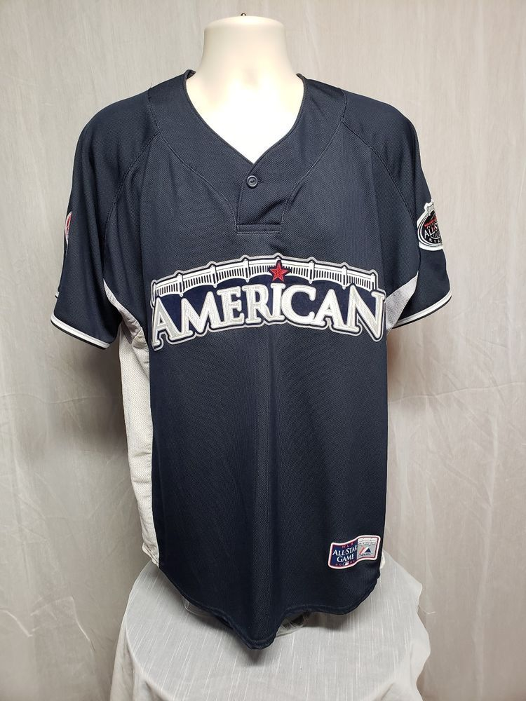 24d14e86dd6 2008 MLB All Star Game American League Rivera 42 Adult Large Blue Warm up  Jersey  Majestic