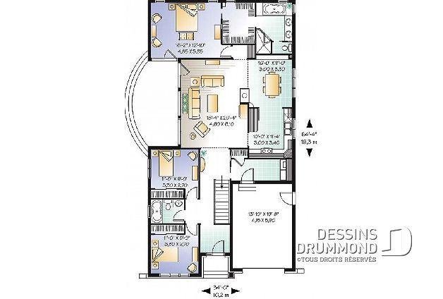 Plan De Maison Unifamiliale Thomas No 3227 Maisons Plan