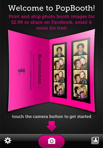 PopBooth is a free app that allows you to take photo booth