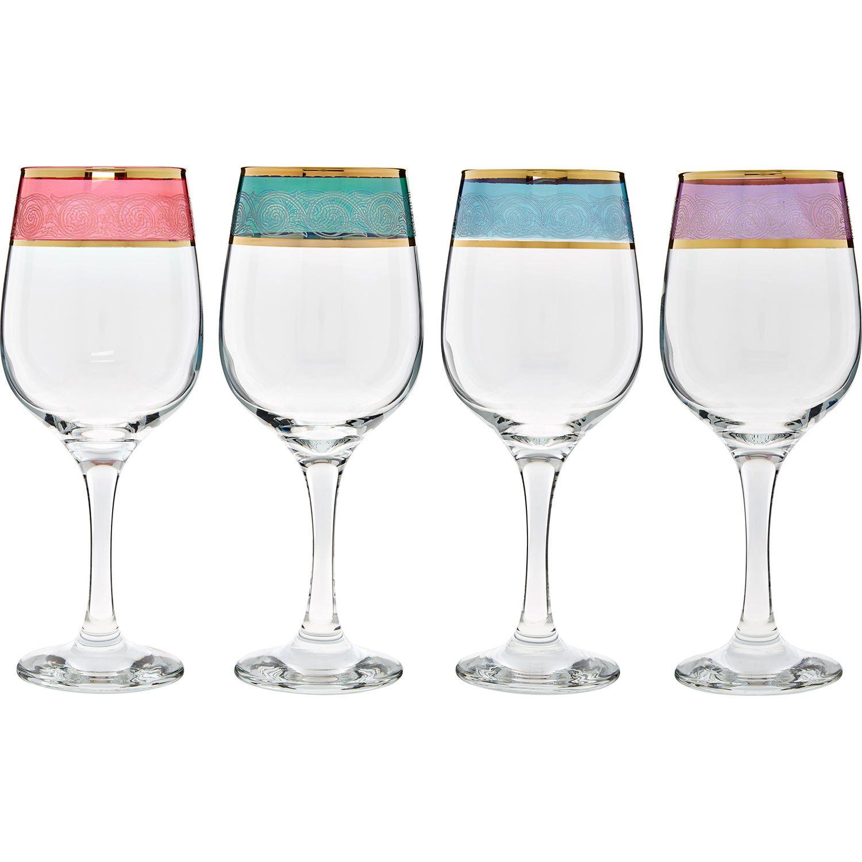 Cristalleria italiana four multi coloured wine glasses tk maxx cristalleria italiana four multi coloured wine glasses tk maxx reviewsmspy