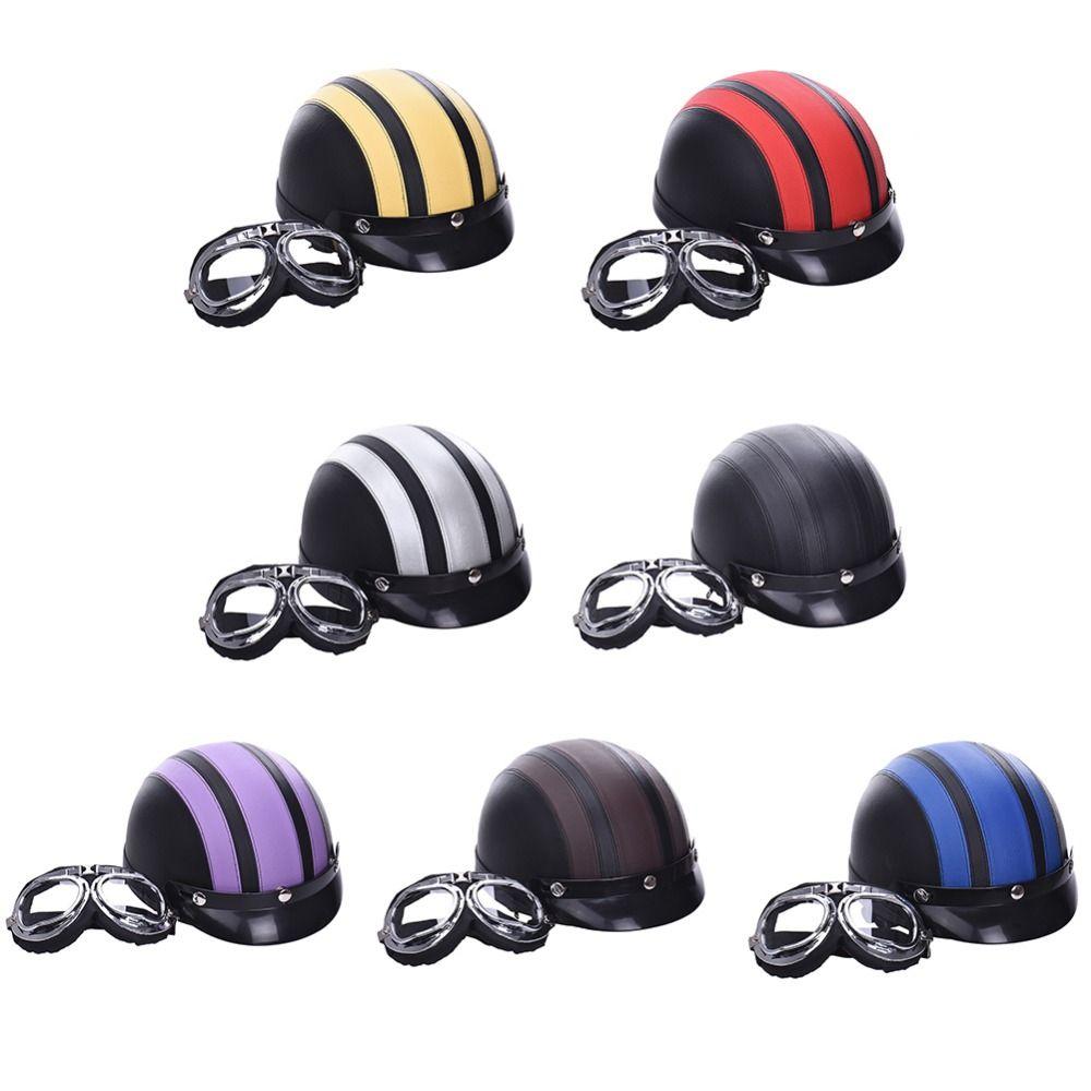 Buy Unisex New Vintage Motorcycle Helmets Open Face Half Motorbike Amp Goggles Helmet Now Hot Sale Fre Motorcycle Helmets Vintage Motorcycle Helmets Helmet