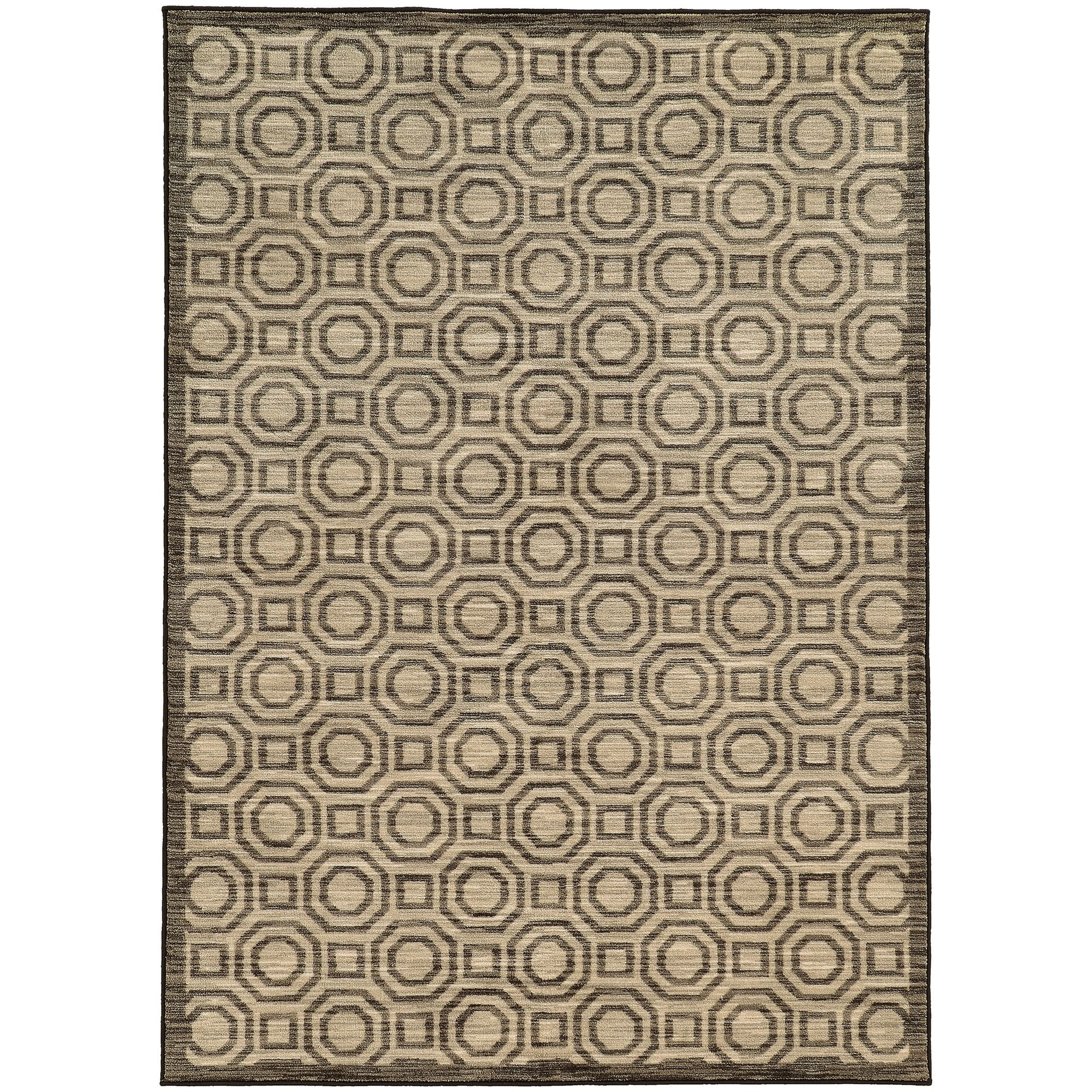Reisman Geometric Charcoal/Grey Area Rug