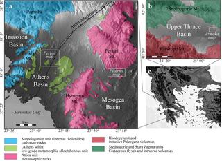 Fig Locations Of Graecopithecusbearing Exposures Digital - Elevation locations