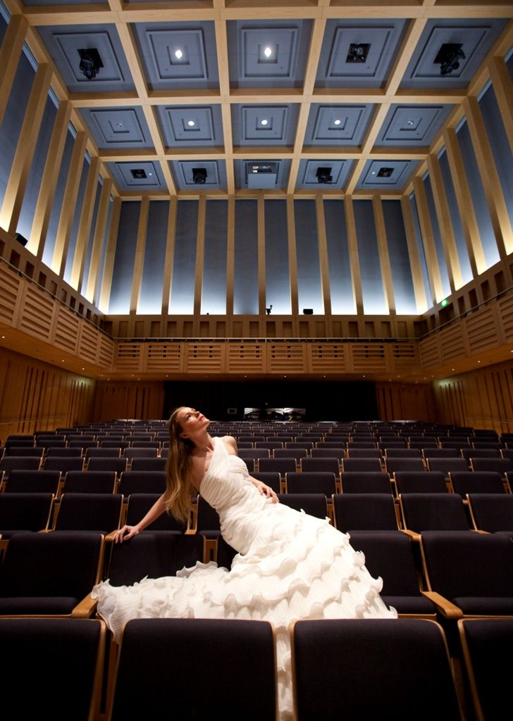 Bride In Hall One Concert Hall Kings Place North London Wedding