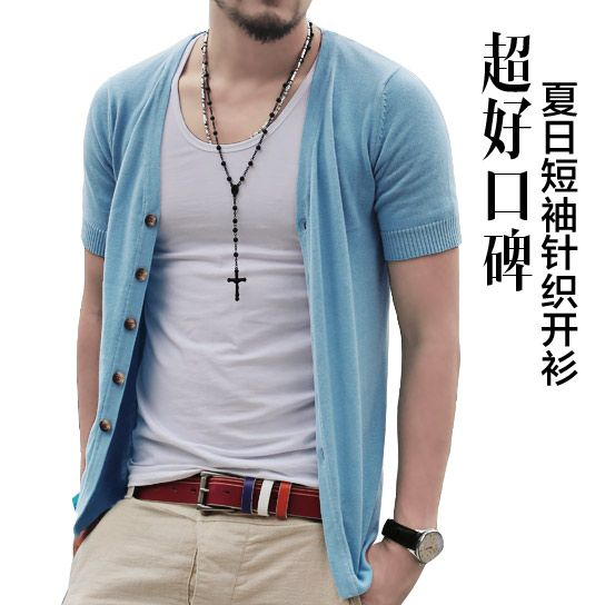 Free-shipping-2013-summer-100-cotton-men-s-sweater-short-sleeve ...