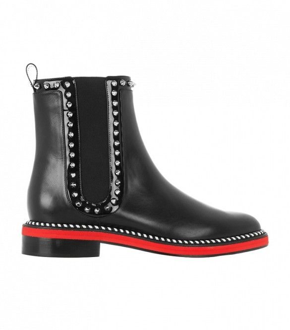 Christian Louboutin Notting Hill 25 Studded Leather Chelsea Boots