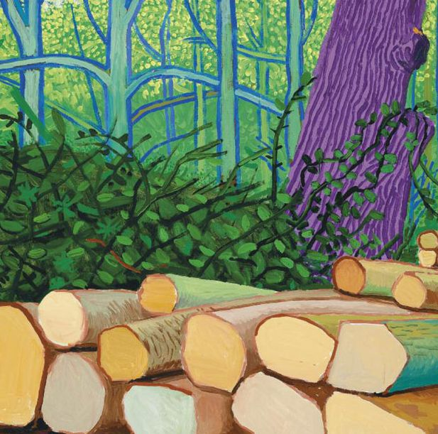 Calendario 2008 Espana.David Hockney Felled Trees On Woldgate 2008 Sammlung Wurth Inv