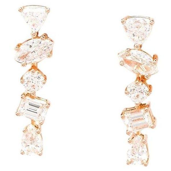 Kimberly McDonald 18k Rose Gold Diamond Stud Earrings TFpBj