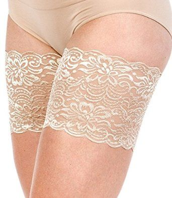Amazon.com: Bandelettes Elastic Anti-Chafing Thigh Bands - Prevent Thigh Chafing - Jasmine Beige, Size A: Clothing