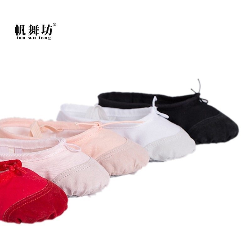 4.32$  Know more - fan wu fang 5 Color Skin Head Soft Canvas Flat Dance Ballet Shoes Girl Children Women Yoga Shoes According The CM To Buy   #SHOPPING