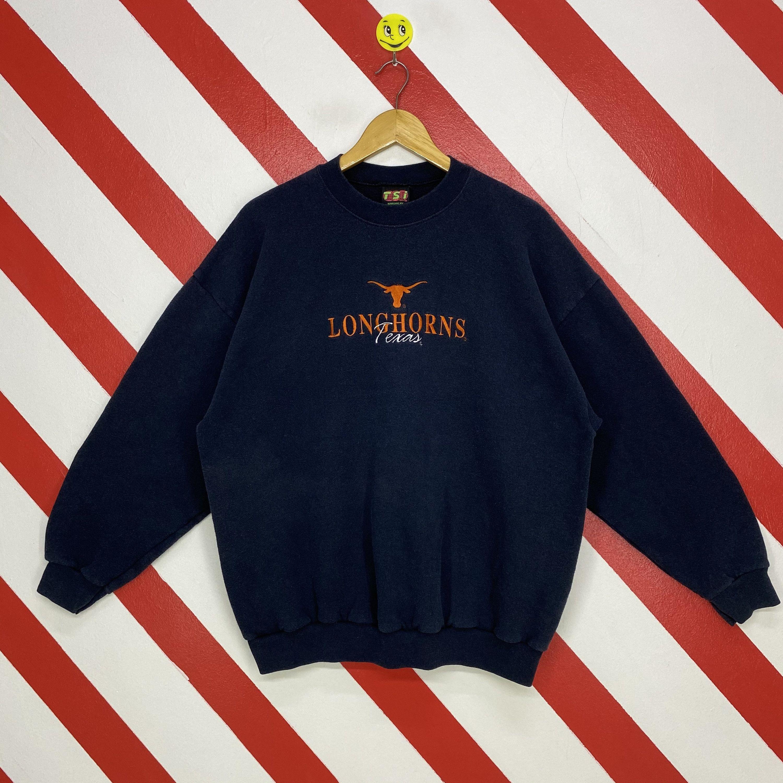 Vintage 90s Texas Longhorns Sweatshirt Texas Longhorns Crewneck Texas Longhorns Sweater Pullover Texas Longhorns Emb Sweatshirts 90s Sportswear Texas Longhorns [ 3000 x 3000 Pixel ]