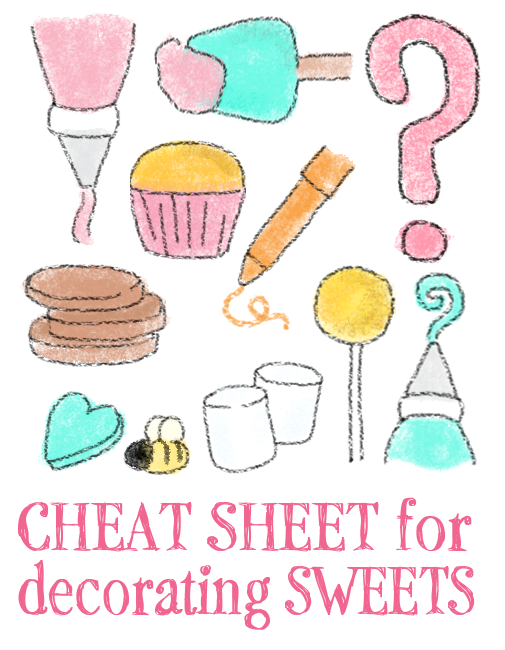 Cheat Sheets for decorating Sweets - The Decorated Cookie